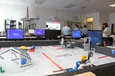 student computer lab at St. Cecelia School